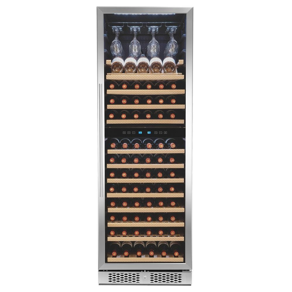 Akdy 121 Bottle Freestanding Wine Cooler W/ Touch Panel