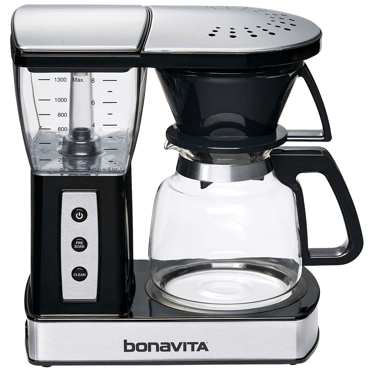 Bonavita Glass 8-Cup Coffee Maker w/ Warming Plate Quench Essentials