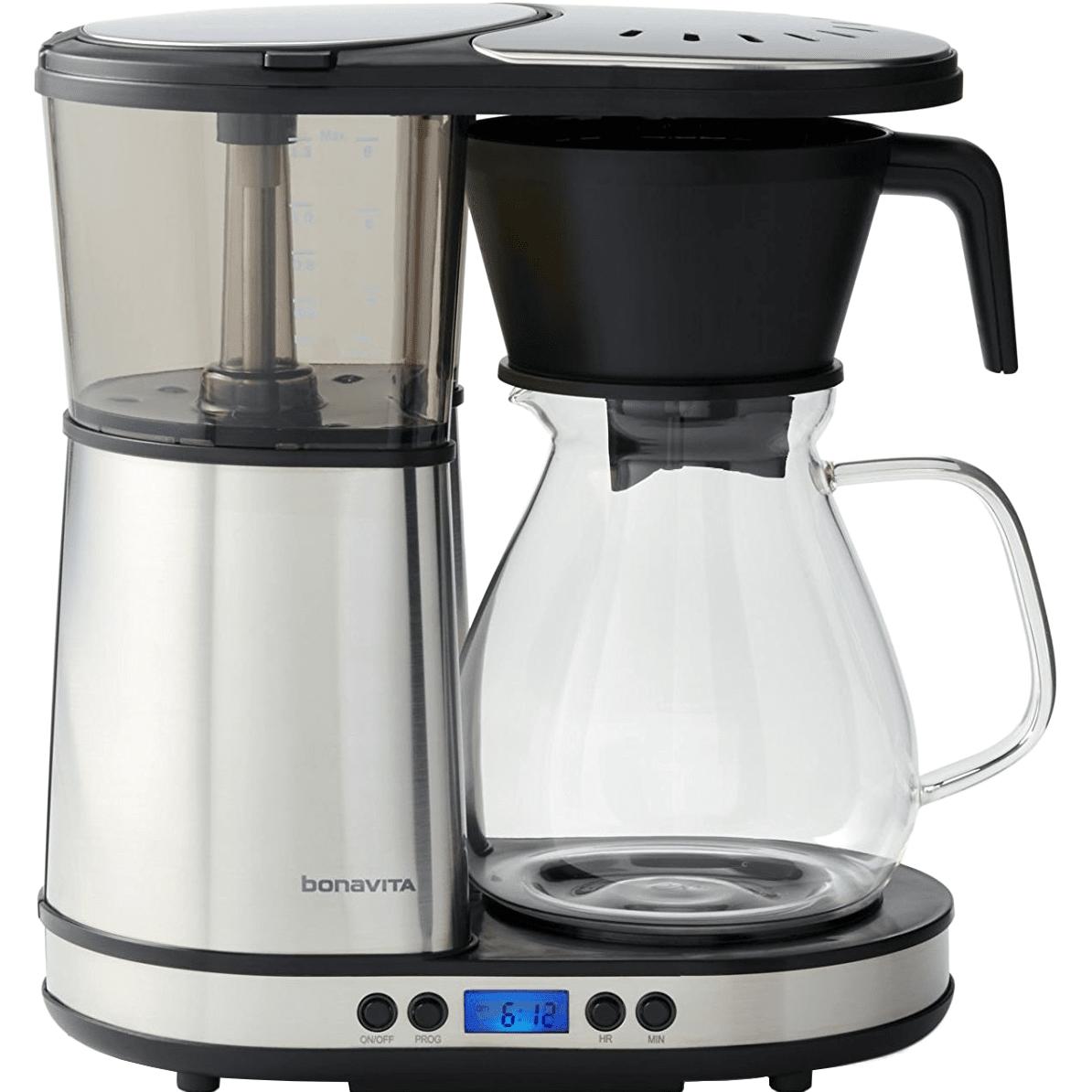 Bonavita Glass Programmable 8-Cup Coffee Maker w/ Hot Plate (BV1902DW)