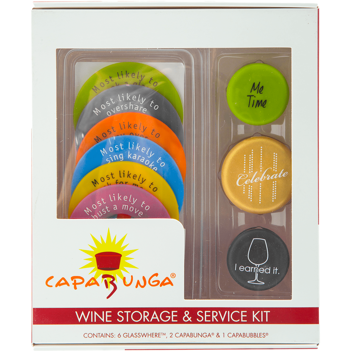 Capabunga Wine Storage And Service Kit - Slogans