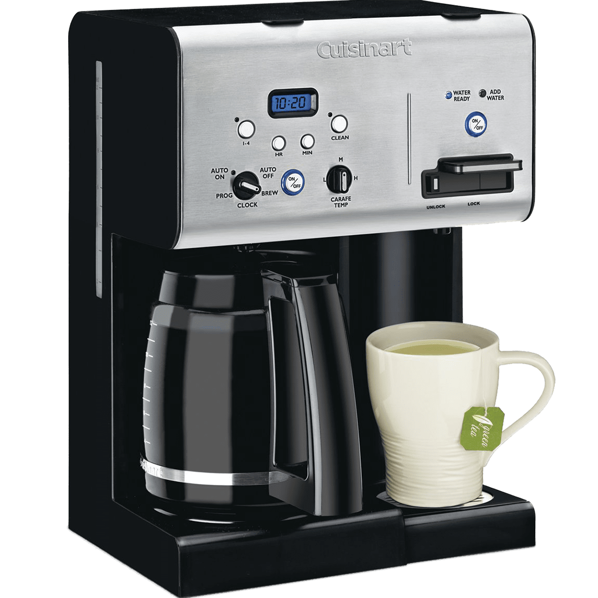 Cuisinart Programmable Coffee Maker w/ Hot Water System (CHW12) Quench Essentials