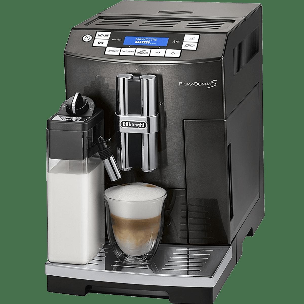 delonghi ecam28465 primadonna s automatic espresso machine quench essentials. Black Bedroom Furniture Sets. Home Design Ideas