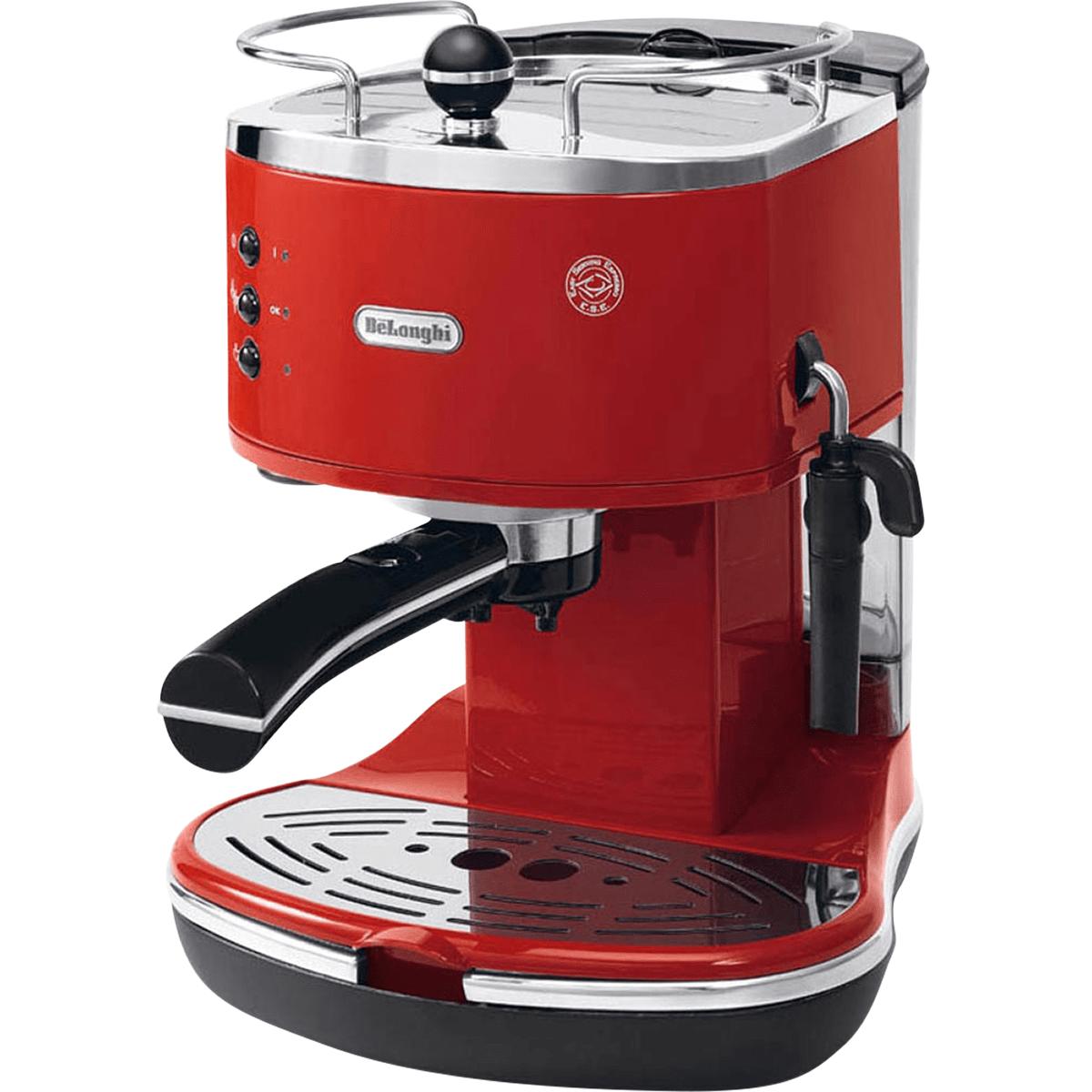 DeLonghi ECO310 Icona Manual Espresso Machine Red - ECO310R
