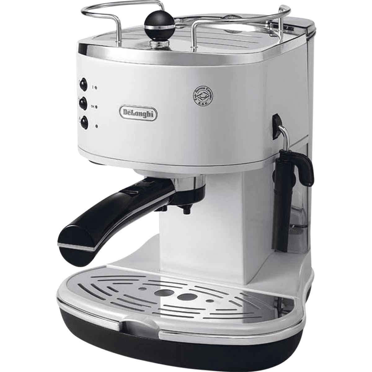 DeLonghi ECO310 Icona Manual Espresso Machine White - ECO310W