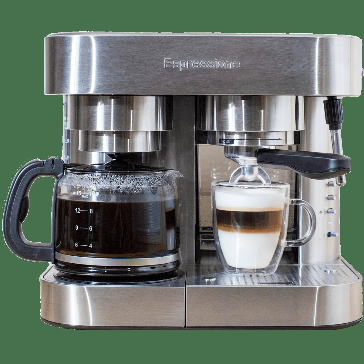 Espressione Em 1040 Stainless Steel Espresso Coffee Maker Quench Essentials