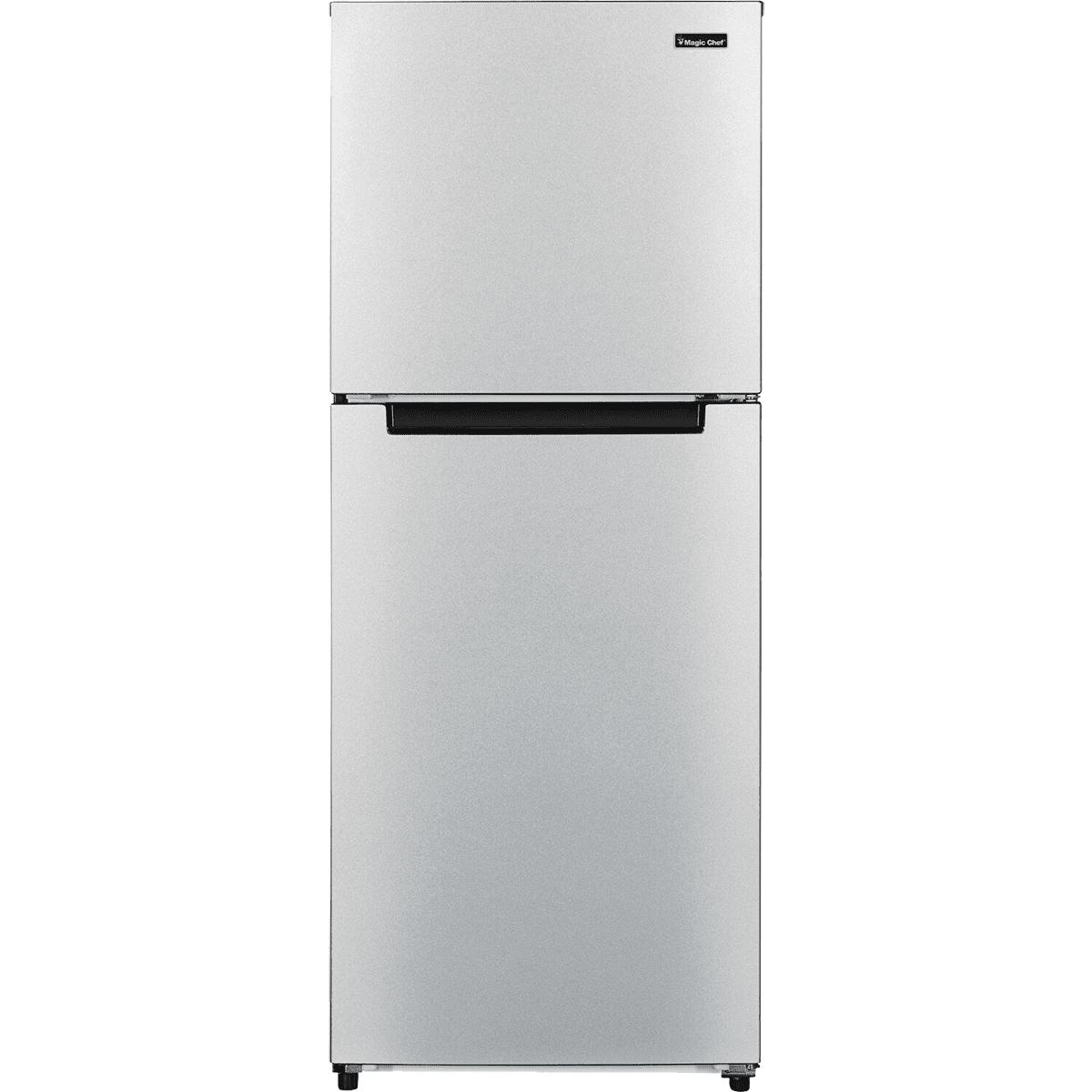 Image of Magic Chef 10.1 Cu. Ft. Energy Star Refrigerator - Platinum Steel