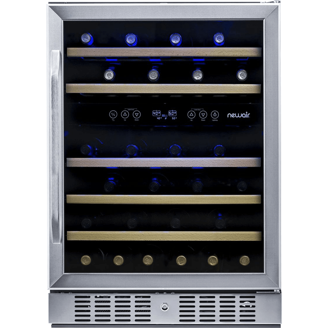 Image of NewAir 46 Bottle Dual Zone Compressor Wine Cooler - Stainless Steel