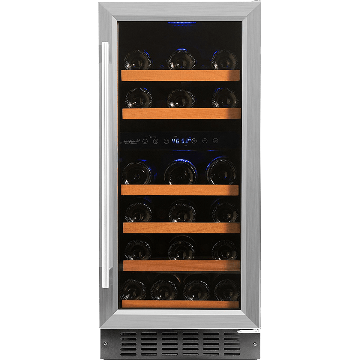 Smith Amp Hanks 32 Bottle Dual Zone Wine Cooler Quench