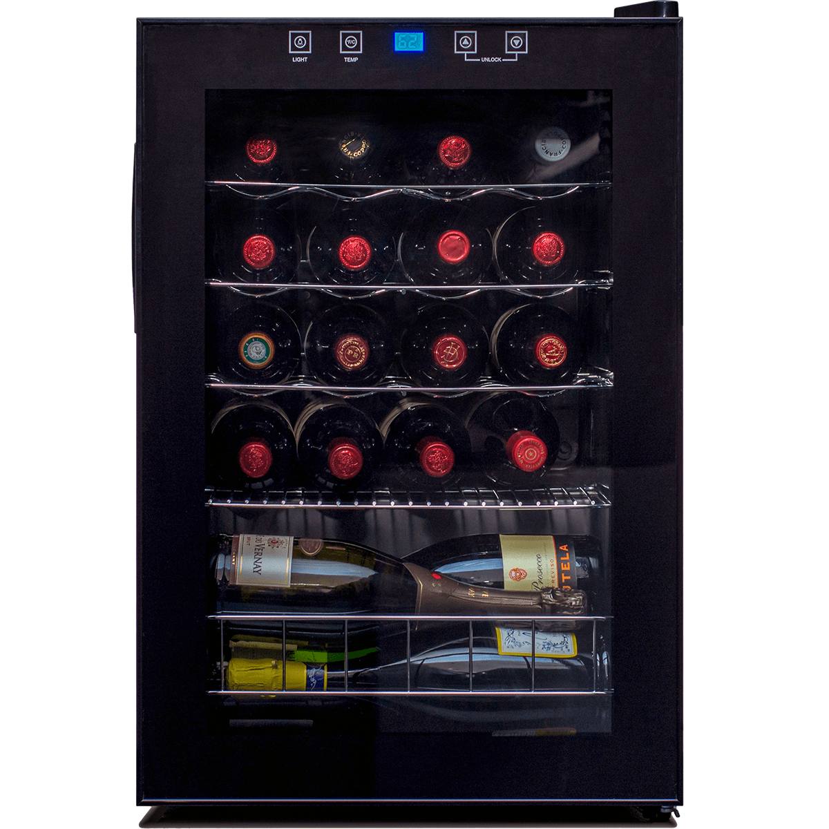 20 Bottle Single Zone Wine Cooler