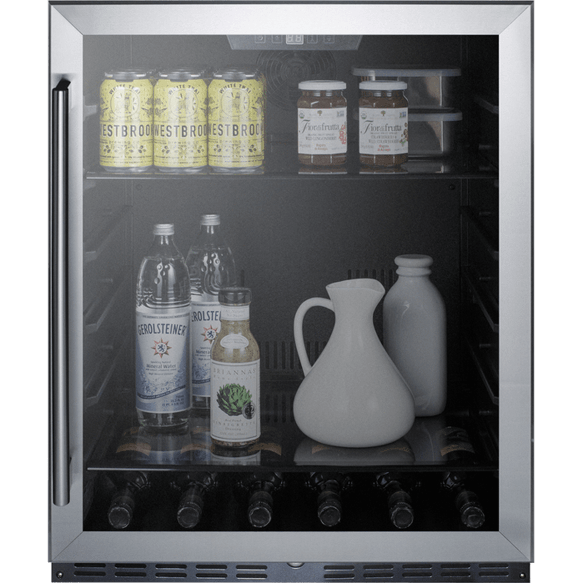 Summit Built In Glass Door Beverage Cooler Al57g Quench Essentials