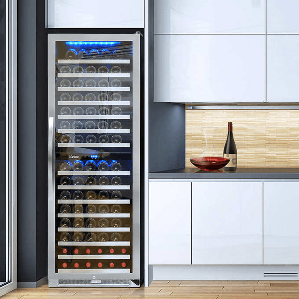 Vinotemp 155 Bottle Dual Zone Wine Cooler Quench Essentials