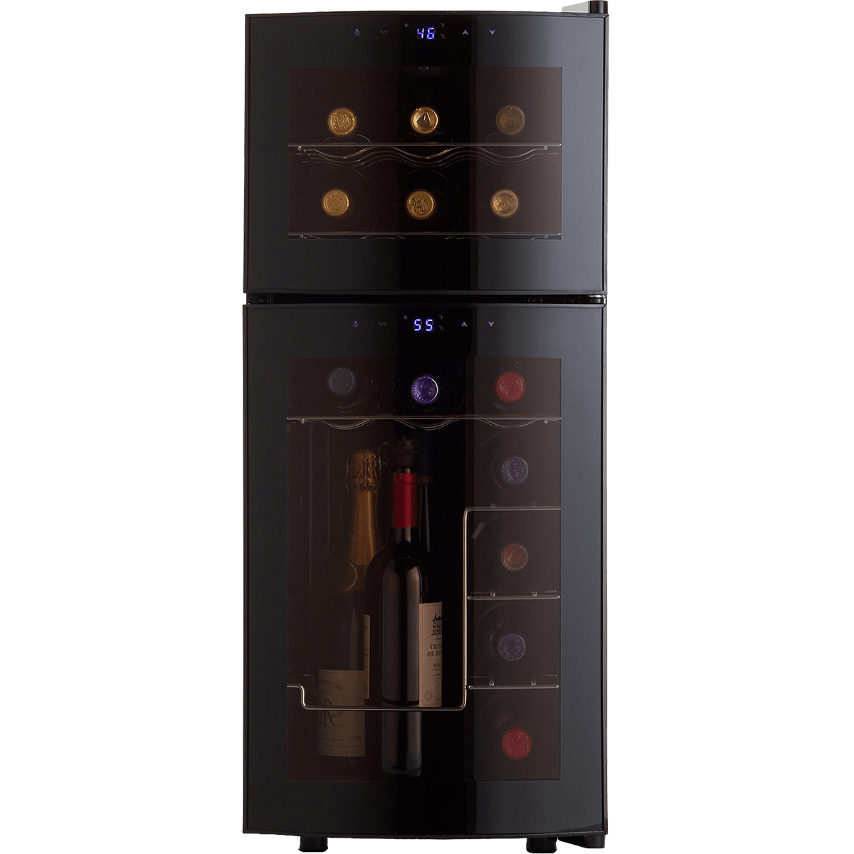 Wine Enthusiast Dual Zone Wine Cooler - Front  sc 1 st  Quench Essentials & Wine Enthusiast 21 Bottle Wine Cooler | Quench Essentials