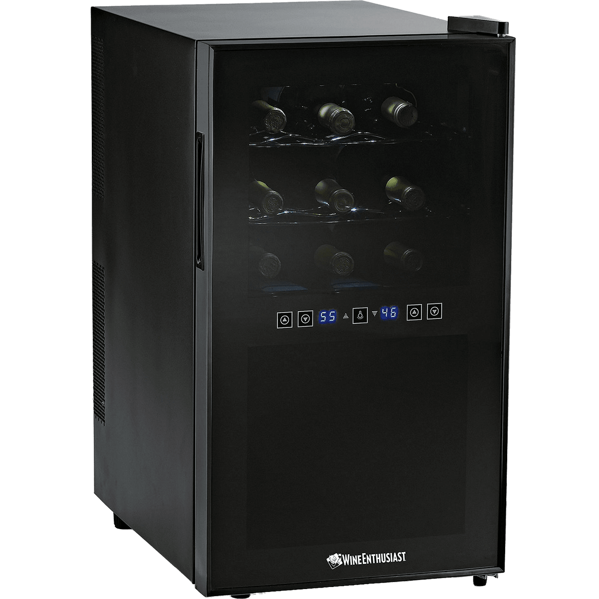 wine enthusiast wine cooler wine enthusiast 18 bottle dual zone touchscreen wine 31189